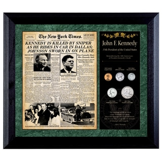 American Coin Treasures New York Times JFK Assassination Framed Coin Collection