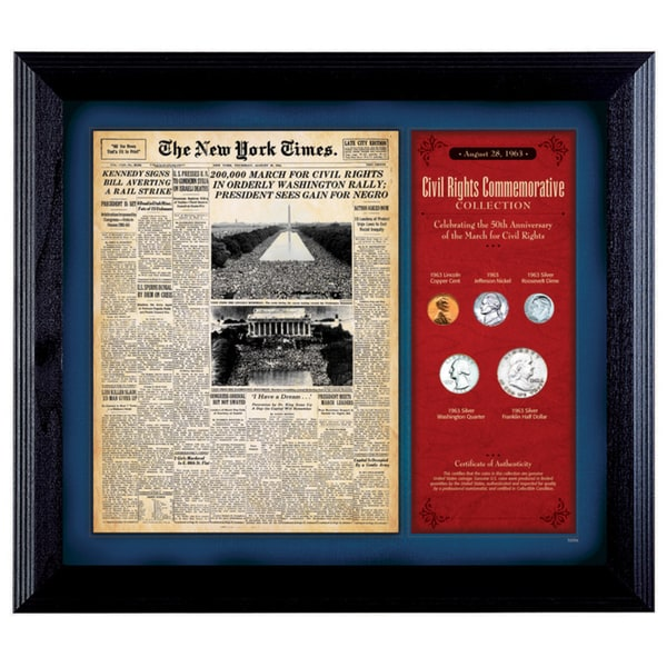 American Coin Treasures New York Times 'March For Civil Rights' Framed Coin Collection