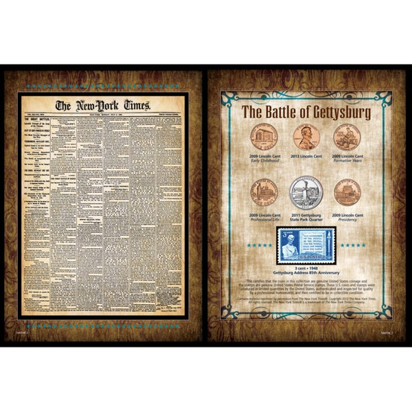 American Coin Treasures New York Times 'Battle of Gettysburg' Coin and Stamp Collection
