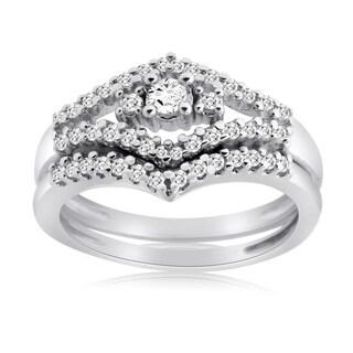 10k White Gold 1/2ct TDW Diamond Bridal Ring Set