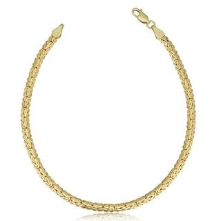 Fremada 14k Yellow Gold 4 Mm Flat Byzantine Bracelet