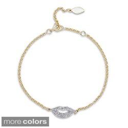 Victoria Kay 14k Gold/Silver 1/3ct TDW Diamond Lips Bracelet