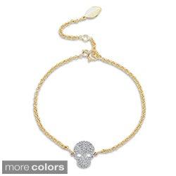 Victoria Kay 14k Gold or Silver 1/4ct TDW Diamond Skull Bracelet (J-K, I2-I3)
