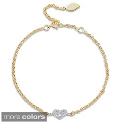 Victoria Kay 14k Gold or Silver Diamond Accent Heart Bracelet