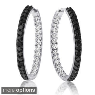 10K Gold 1ct TDW Diamond Inside-out Hoops