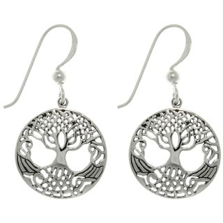 Carolina Glamour Collection Sterling Silver Tree of Life Earrings