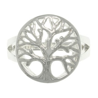 Carolina Glamour Collection Sterling Silver Tree of Life Ring
