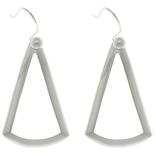 Carolina Glamour Collection Sterling Silver Triangle Earrings