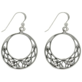 Carolina Glamour Collection Sterling Silver Celtic Round Earrings
