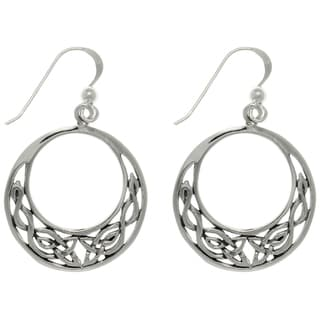 Sterling Silver Celtic Round Earrings