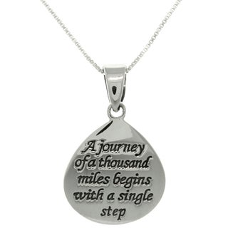 Sterling Silver Journey Message Necklace