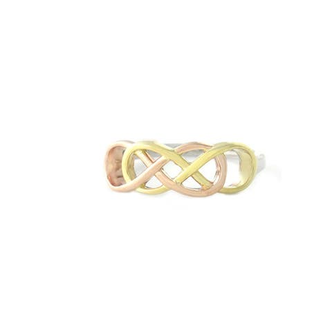 Mondevio Sterling Silver Infinity Knot Ring