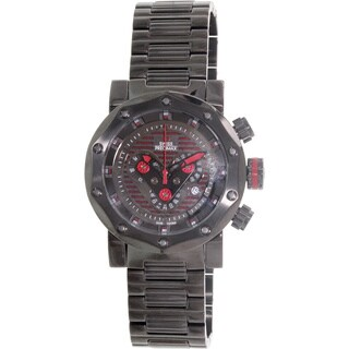 Swiss Precimax Men's 'Vector Pro SP13095' Black/ Red Swiss Chronograph Watch