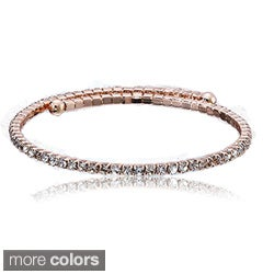 Riccova Sterling Silver Cubic Zirconia Snake Cuff Bracelet