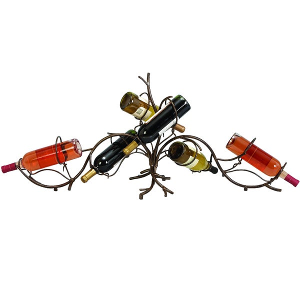 Casa Cortes Vine Metal 6-bottle Wine Rack
