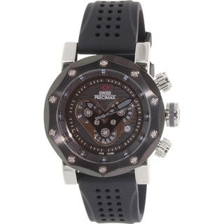 Swiss Precimax Men's 'Vector Pro Sport' Black/ Grey Swiss Chronograph Watch