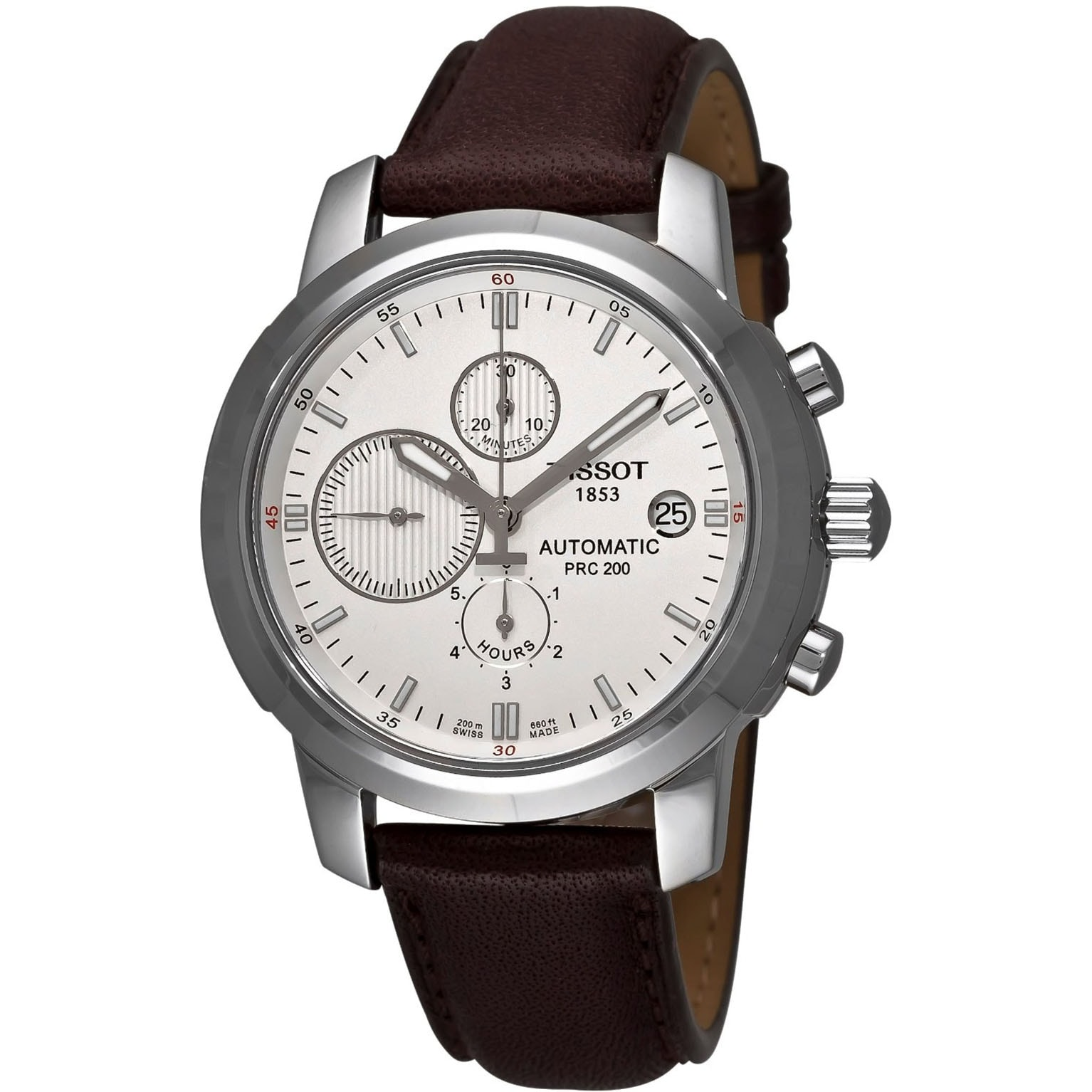 Tissot Men's Brown Calfskin Leather Strap Swiss Automatic...