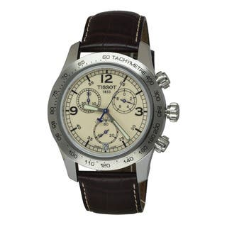 Tissot Men's T36.1.316.72 Brown Leather Quartz Watch with Beige Dial|https://ak1.ostkcdn.com/images/products/7856841/P15242889.jpg?impolicy=medium