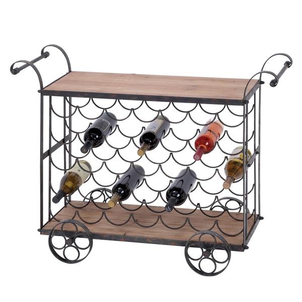 Casa Cortes Vintage 35-bottle Wine Bottle Cart