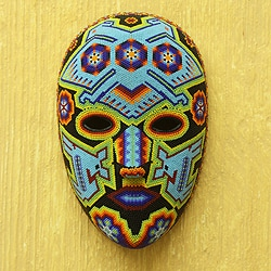 Beadwork Mask 'Blue Eagle' (Mexico)