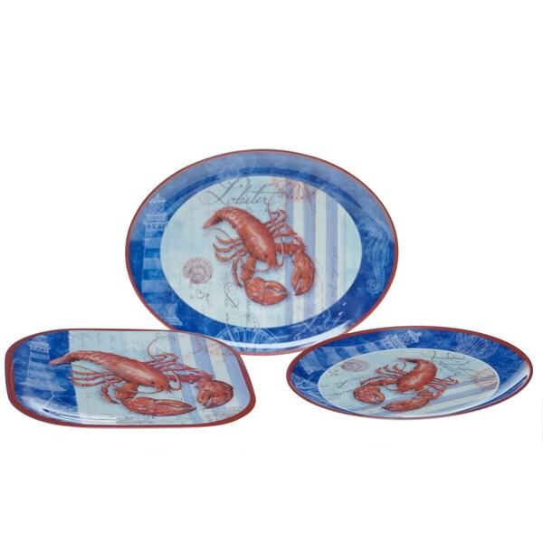 Certified International Lobster 3-piece Serving Set