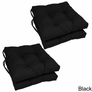 Blazing Needles 16-inch Square Twill Dining Chair Cushions (Set of 4)