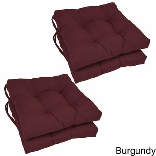 "Blazing Needles 16-inch Square Twill Dining Chair Cushions (Set of 4) - 16"" x 16"""