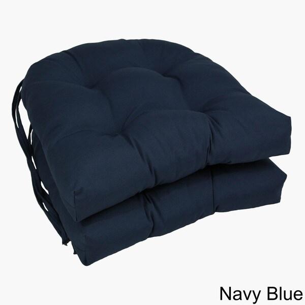 Blazing Needles 16 Inch U Shaped Dining Chair Cushions (Set Of 2)