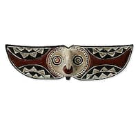 Sese Wood 'Bwa Butterfly Bird' African Mask (Ghana)