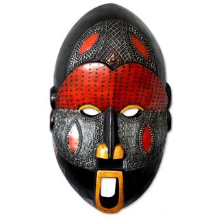 Handmade Dan Comic Paint and Aluminum Mask (Ghana)