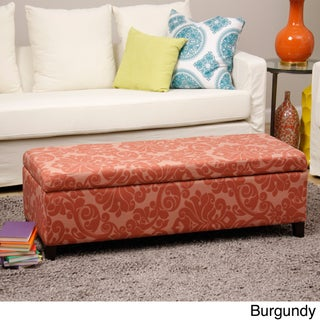 Bolbolac Flower Fabric-upholstered Storage Bench (2 options available)