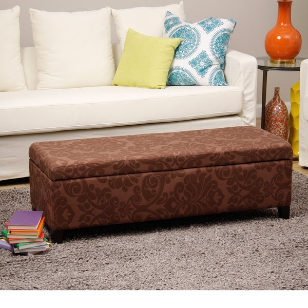 Bolbolac Flower Fabric Upholstered Storage Bench