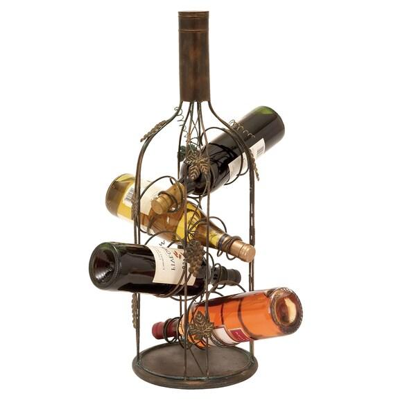 Casa Cortes Bottiglia Wine Enthusiast Metal 4-bottle Wine Rack Display