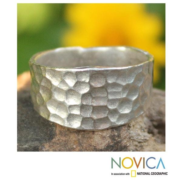 Handmade Sterling Silver 'Bangkok Moonlight' Ring (Thailand)