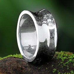 Sterling Silver Men's 'Love Testimonial' Ring (Indonesia)