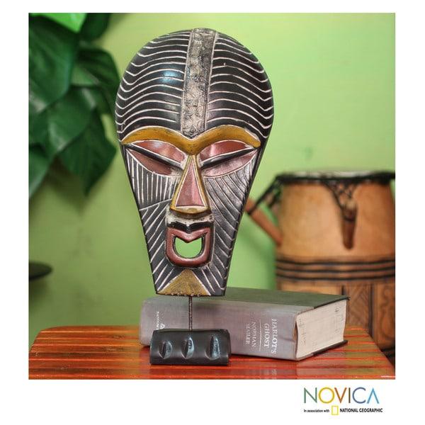 Handcrafted Sese Wood 'Abstract Kifwebe' African Mask  , Handmade in Ghana