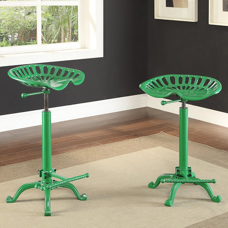 Carolina Brady Adjustable Farm Stool (Green) (Metal)