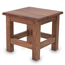 Parota Wood 'San Pedrito Mission' End Table (Mexico)