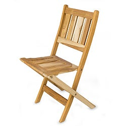 Handmade Teakwood 'Mexican Sierra' Folding Chair (Mexico)