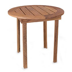 Tzalam Wood 'Round Paradise Hacienda' Accent Table (Mexico)