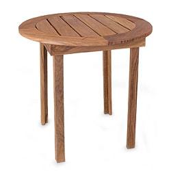 Handmade Tzalam Wood 'Round Paradise Hacienda' Accent Table (Mexico)