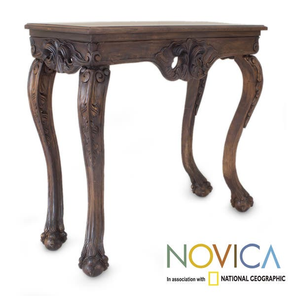 Remarkable Handmade Cedar Wood Mexican Manor House Console Table Mexico Caraccident5 Cool Chair Designs And Ideas Caraccident5Info