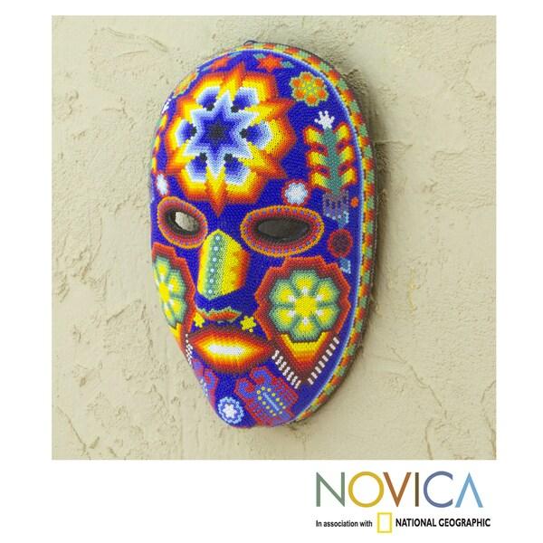 Handmade Beadwork 'Estrella' Huichol Mask (Mexico)