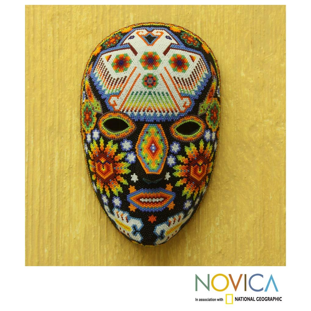 Handmade Beadwork Eagle Protector Huichol Mask Mexico On Sale Overstock 7857102