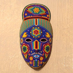 Handcrafted Beadwork 'Life, Fortune and Success' Huichol Mask(Mexico)