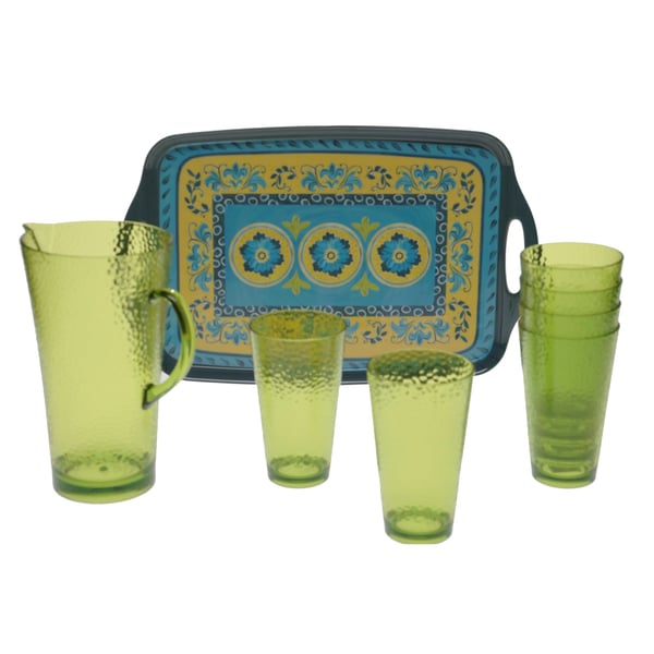 Certified International Mexican Tile 8-piece Serving Set
