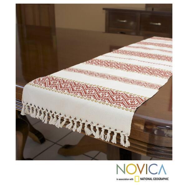 """Handmade Guatemala Table Runner 60/"""" x 10/"""""""