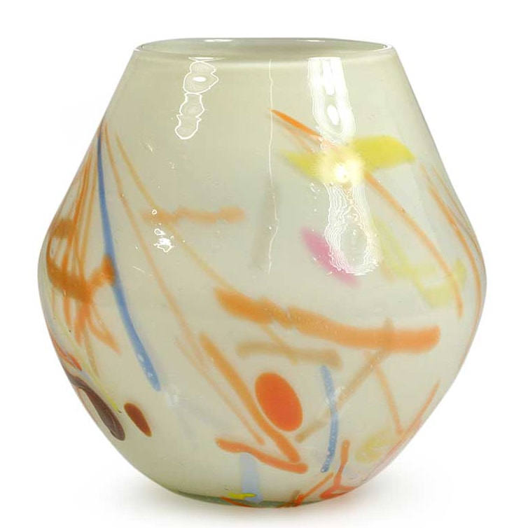Handmade Blown Glass 'Saint's Day' Vase (Guatemala)