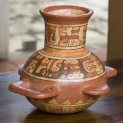 Handcrafted Ceramic 'Maya Greatness' Vase (El Salvador)