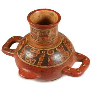 Handmade Ceramic 'Maya Greatness' Vase (El Salvador)
